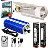 Yield Lab Horticulture Grow Light Cool Tube Reflector Kit – Easy Setup High Output Full Spectrum System For Indoor Plants And Hydroponics – Free Bonus Mechanical Timer (400 Watts, 2 Bulbs (HPS + MH))