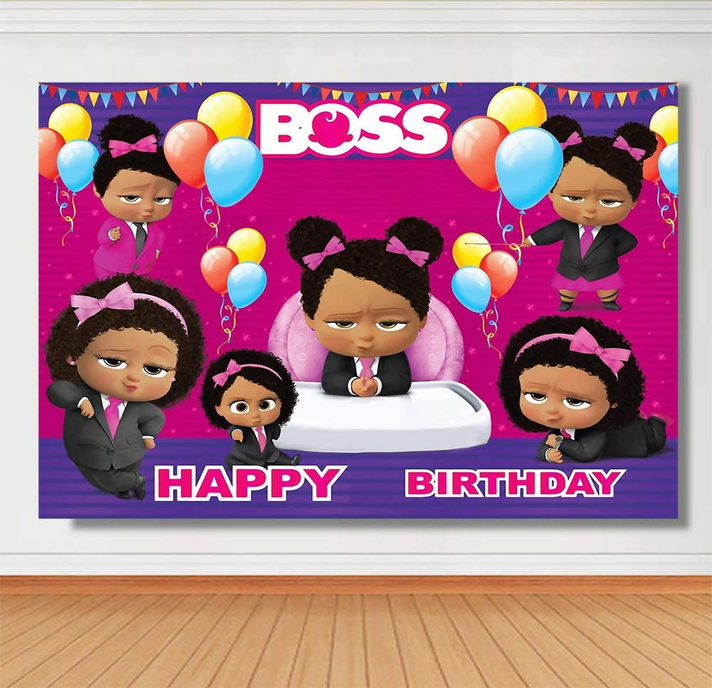 Baby Boss Gilrs Theme Photography Backdrops Litter Princess Baby Shower Bithday Party Balloon Decoration Photo Background Studio Props Banner Vinyl 7x5ft