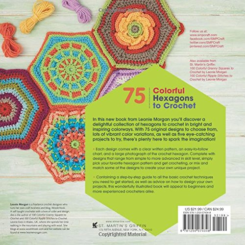 75 Colorful Hexagons to Crochet: The Ultimate Mix-and-Match