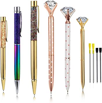 Gift Writing Tool Crystal Pen Stationery Metal Ballpoint Writing Supplies