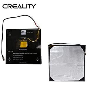 Creality CR10 Heatbed 12V Aluminum Heat Bed with Cable and Insulation Mat Installed Well Compatible for 3D Printers Creality CR10 / CR10S Hot Bed Size 310x310x3mm