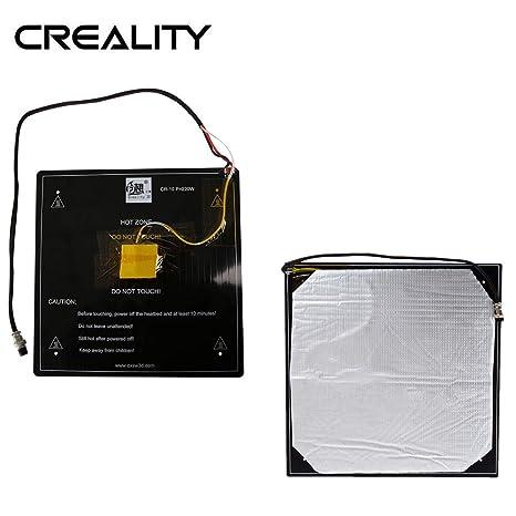Creality CR10 - Cama térmica de aluminio de 12 V con cable y ...