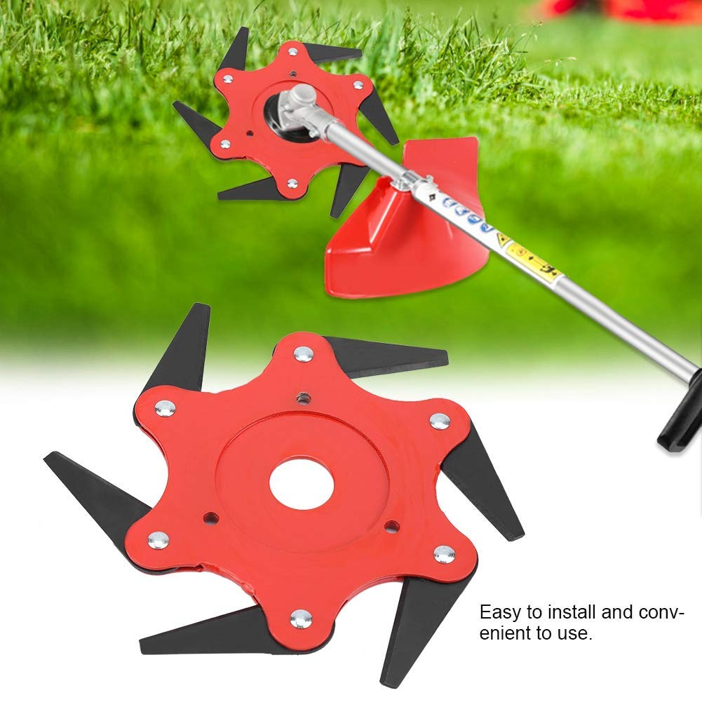 Ball's Outdoor Trimmer Head 6 Steel Blades Razors 65Mn Lawn Mower Grass Weed Eater Brush Cutter Tool (Type 3)