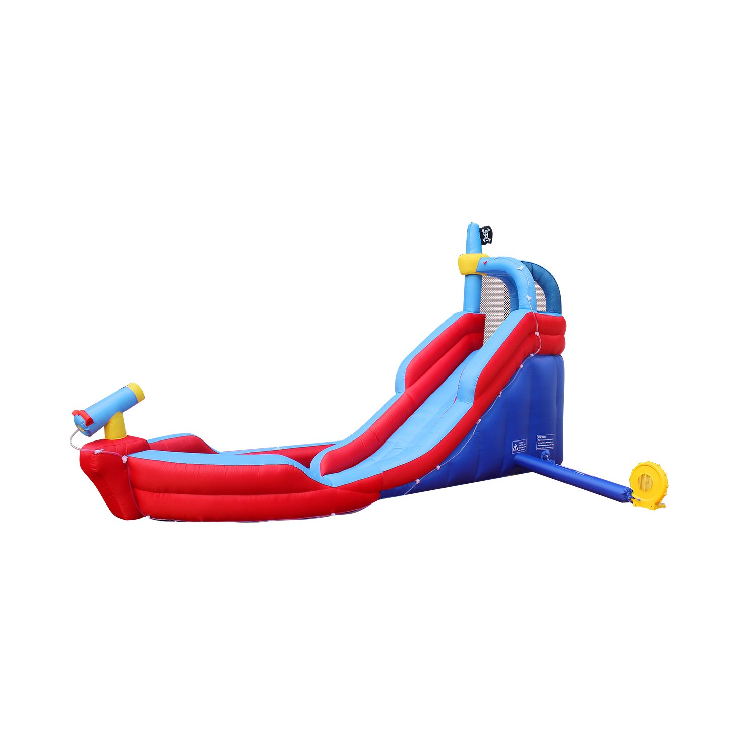 RETRO JUMP Inflatable Pirate Boat Bouncy Water Slide with Blower Climbing Wall Water Park for Kids by RETRO JUMP (Image #3)