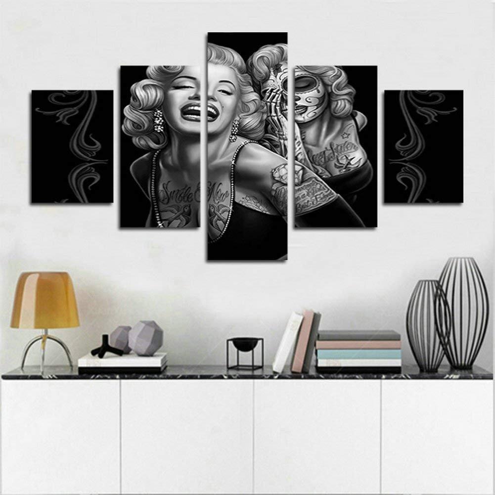 YspgArt66 Print Wall Art, 5 Stück Marilyn Monroe Szene auf Leinwand ...