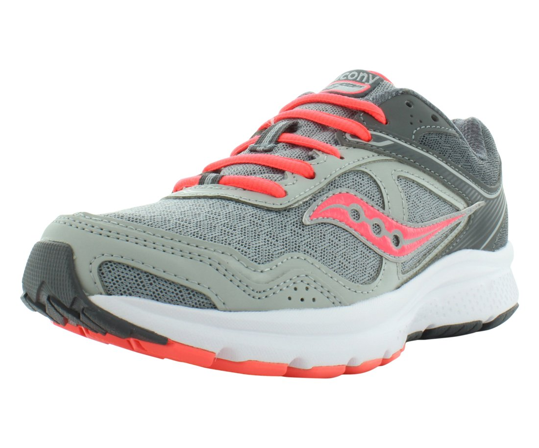 Saucony Women's Grid Cohesion 10 Grey/Coral Ankle-High Running Shoe - 9.5M by Saucony (Image #1)