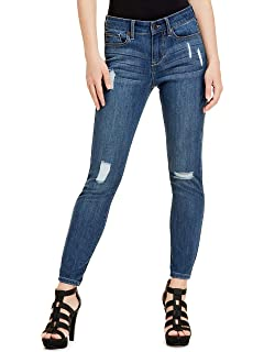 GUESS Factory Womens Melanie Mid-Rise Skinny Jeans at ...
