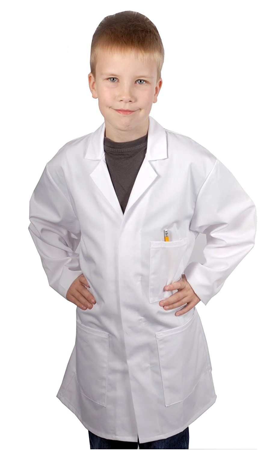 Children's White Lab Coat / Doctor Coat / Science Coat (in a wide ...