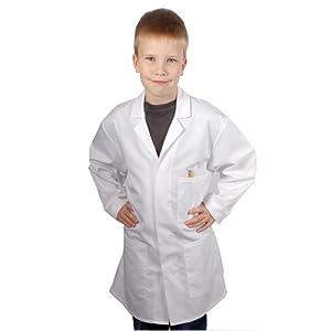 Blouse Blanche – Chimie Laboratoire Collège – Poly Coton haute qualité – Enfant Unisexe