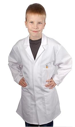 Food Safety Direct Bata de laboratorio o de médico para niños, Color blanco Weiß 10