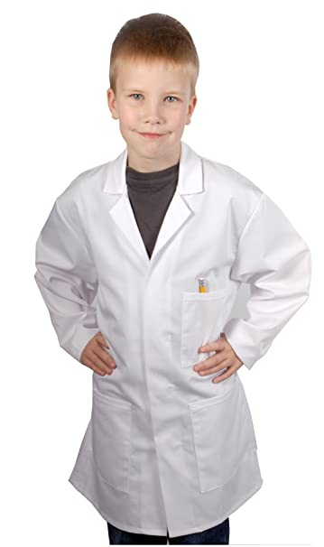 Food Safety Direct Bata de laboratorio o de médico para niños, Color blanco: Amazon.es: Ropa y accesorios