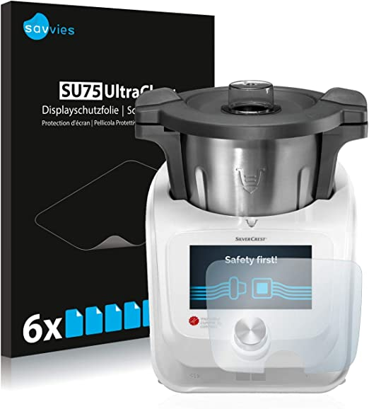savvies Protector Pantalla Compatible con SilverCrest Monsieur Cuisine Connect (6 Unidades) Pelicula Ultra Transparente: Amazon.es: Electrónica
