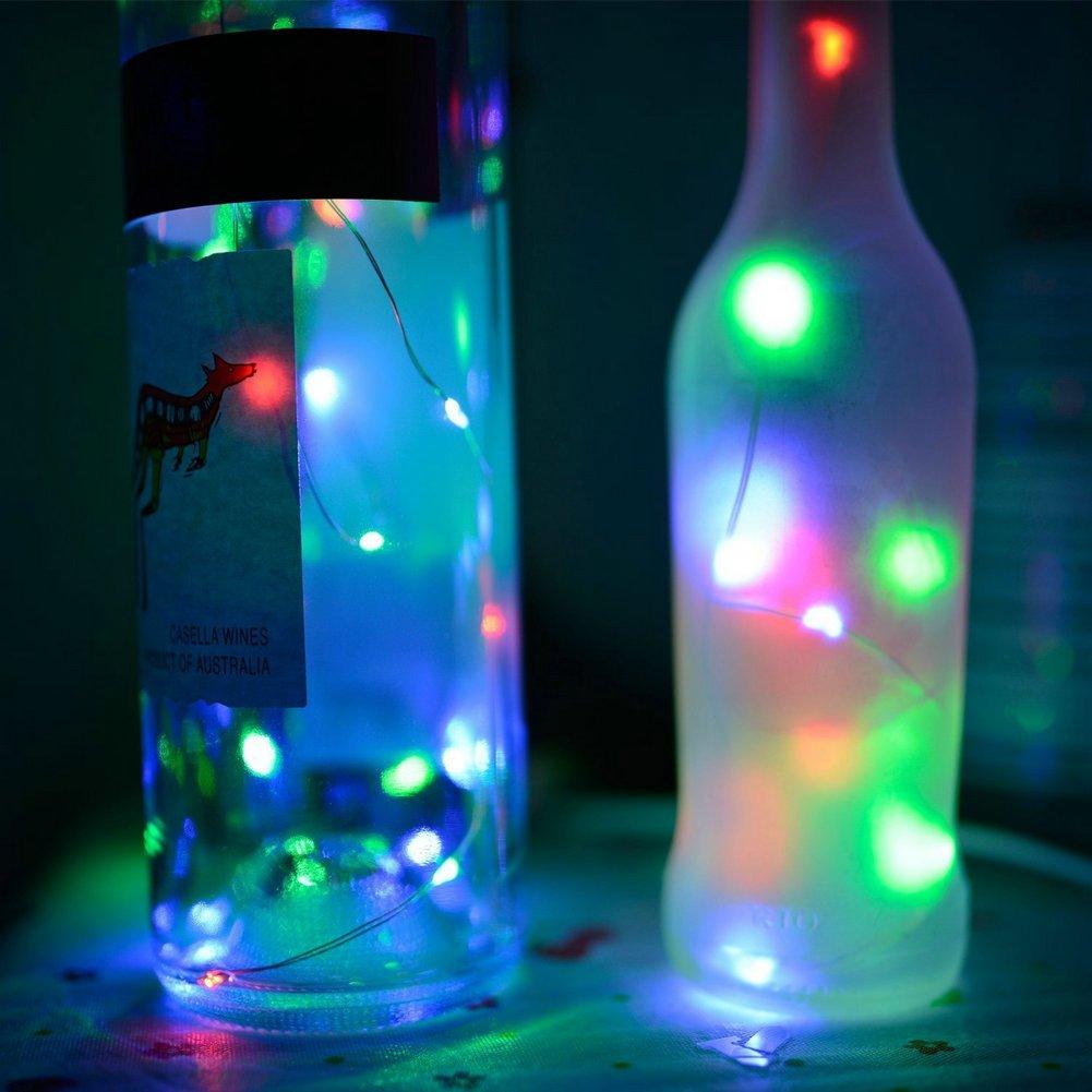 Solar Powered Cork Bottle Lights