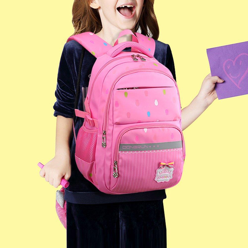 Uniuooi Primary School Bag Backpack for Girls 7-12 Years Old Waterproof  Nylon Kids Schoolbag 56c7df6d77a28