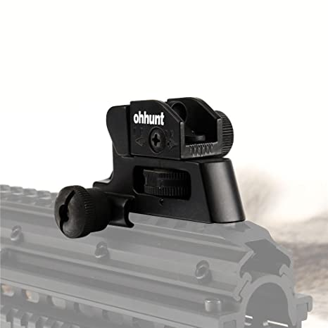 amazon com ohhunt rear iron sight for ar style rifles compact