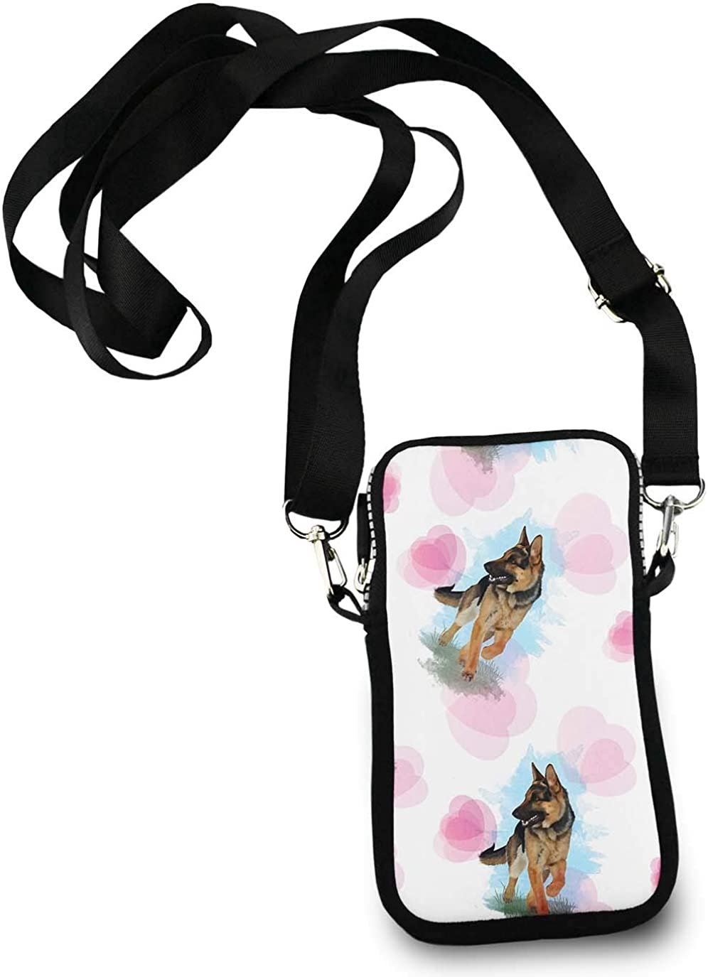 Casual Security Pack Crossbody Phone Pouch With Shoulder Strap Wallet Handbag German Shepherd Dog Lovers