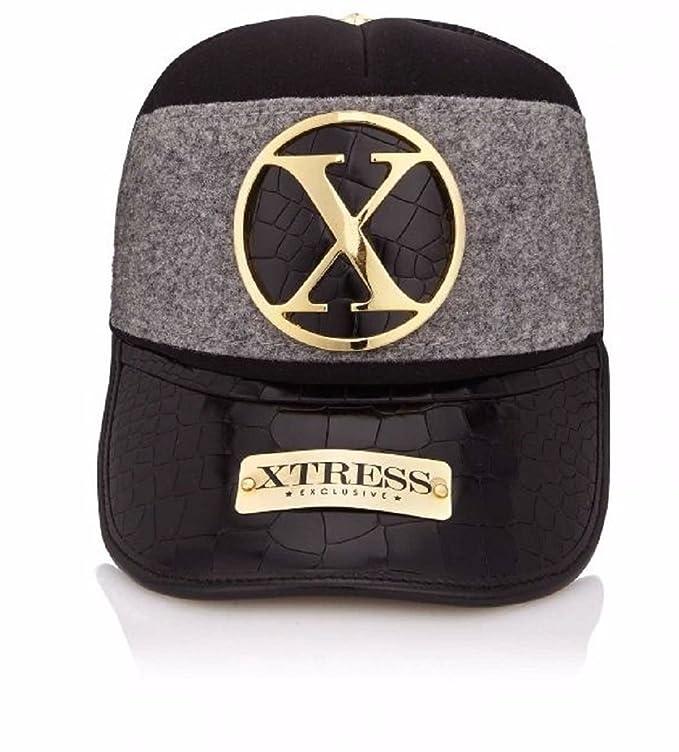 Gorra exclusiva negra y gris. Unisex: Amazon.es: Ropa y accesorios