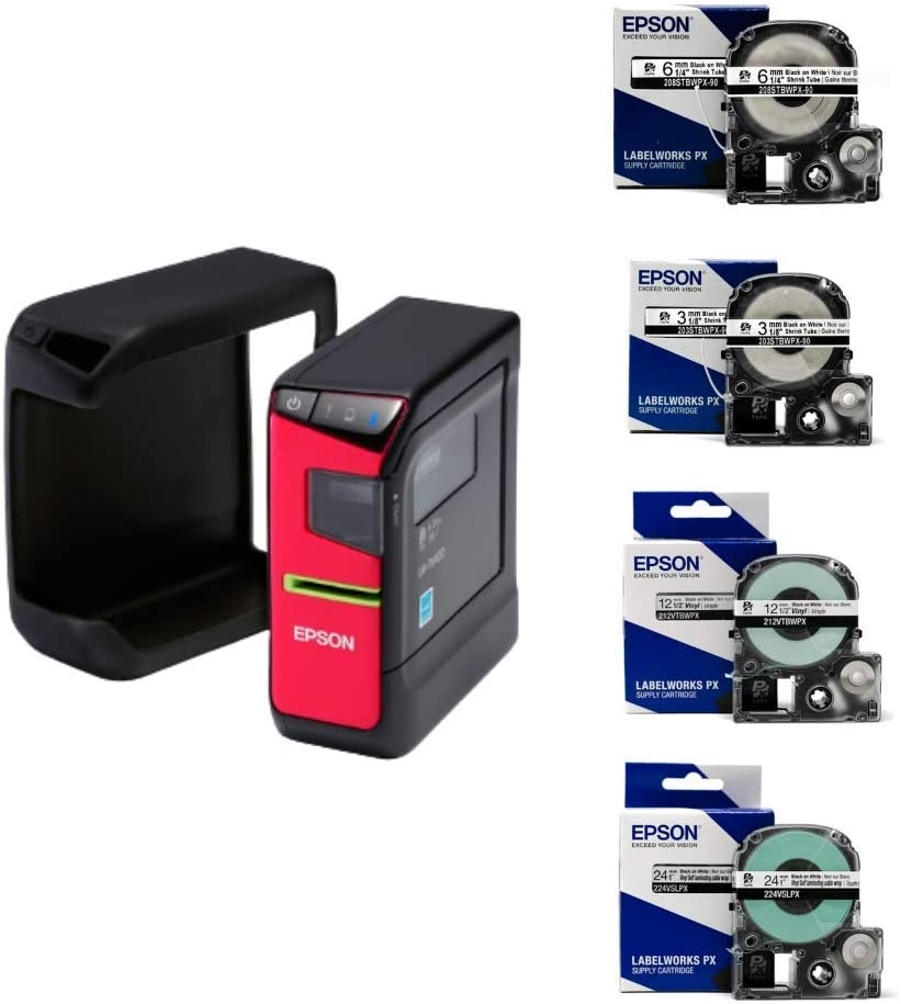 LW-PX400 Label Maker and Vinyl Self Lam Tape Vinyl Tape LABELWORKS LW-PX400 Industrial Label Maker and Tape Bundle and Shrink Tube