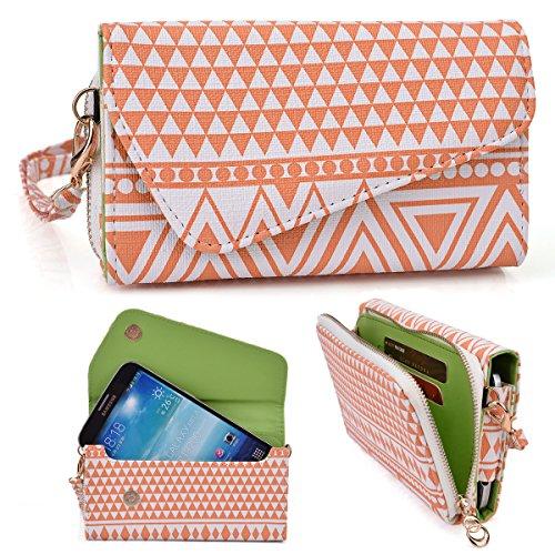 Coral Aztec Tribal Crossbody Wallet for Lenovo K4 Note, Vibe X3 5.5