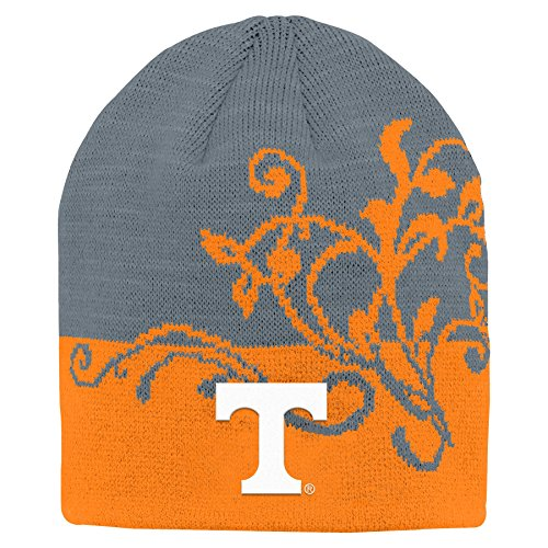 NCAA by Outerstuff NCAA Tennessee Volunteers Youth Girls Jacquard Cuffless Two Toned Hat, Light Orange, Youth One Size -
