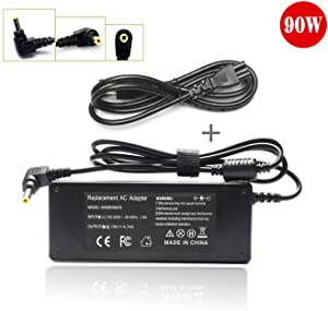 90W L305 L305D L455 L505 Ac Adapter Laptop Charger for Toshiba Satellite L505D L635 L645 L655 L655D L745 L755 L775 L855 L875 A105 A135 C655 C675 C850 C855; PA3714U-1ACA PA5035U-1ACA Power Cord