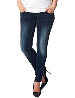 787e5899b5ca9 Noppies Women's OTB Slim Mila Midnight Blue Maternity Jeans: Amazon ...