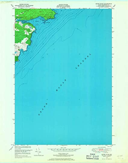 Amazon Com Yellowmaps Moose River Me Topo Map 1 24000 Scale 7 5