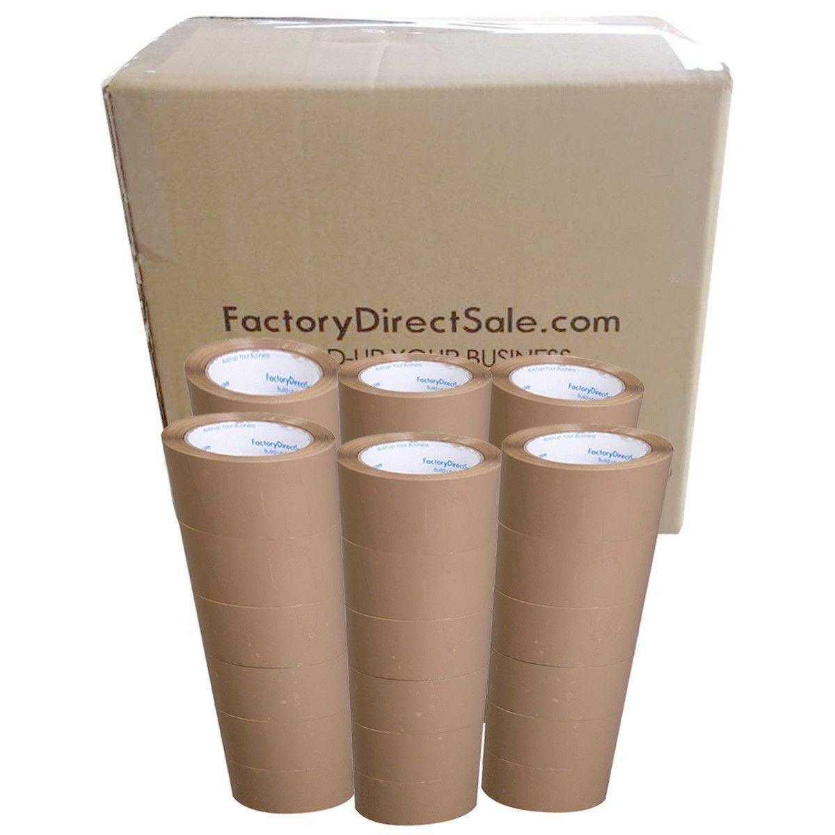 """2/""""x110 Yards Brown Carton Sealing Packing Packaging Tape 330/' ft"""