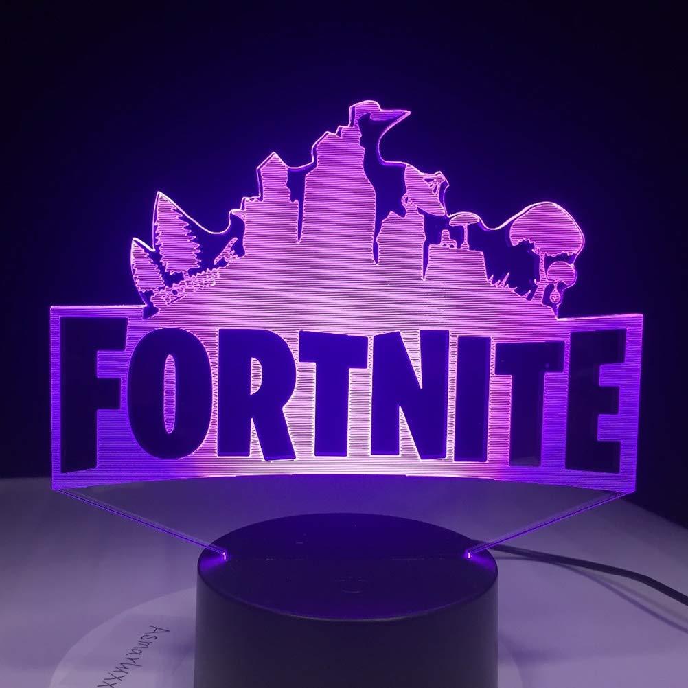 Beelegalaz 3D Lamp Chug Jug Changeable Mood Lamp 7 Color Light Fortnite Souvenir Base Cool Night Light for Birthday Drop Ship (VER1)
