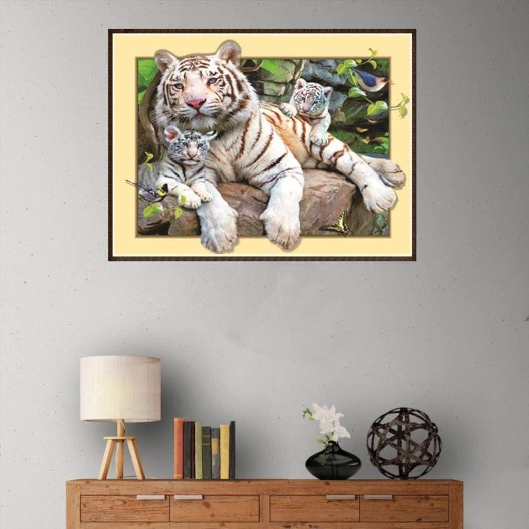 Pollyhb 5d Diamond Painting DIY Diamond Painting Kit,Tiger Owl