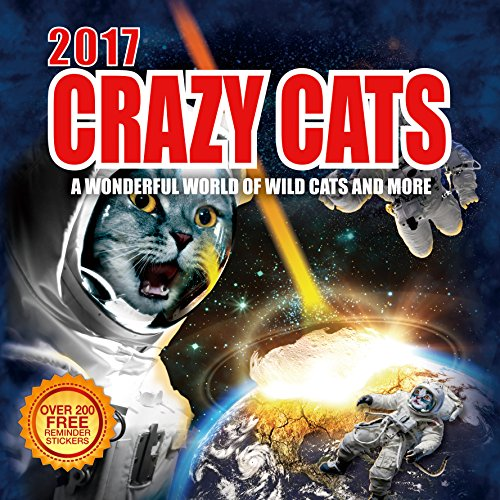 Price comparison product image 2017 Crazy Cats Calendar - 12 x 12 Wall Calendar - 210 Free Reminder Stickers
