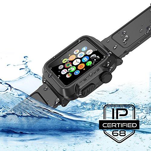best loved ef768 b592a Apple Watch Case 38mm, TETHYS Waterproof Case for APPLE WATCH 38MM ...