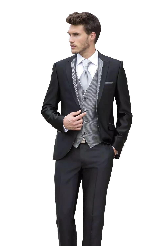 Kelaixiang Mens Solid 3-Piece Suit Slim Fit One Button Tuxedo Blazer Jacket Pants Vest Set