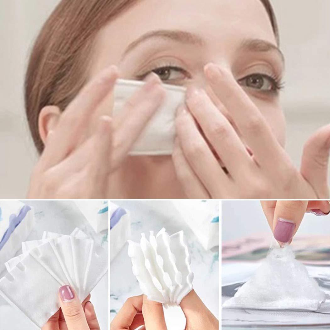 Almohadillas de Algodón de Maquillaje, Kapmore 18 Paquetes de Toallitas Desmaquillantes 100% Algodón Almohadillas de Algodón Suave de Limpieza Facial ...