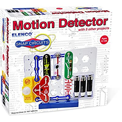 Snap Circuits Electronics Motion Detector Mini Kit | Build Motion Projects with Snap-Together Electronic Components | 12 Projects | Electronics Exploration Kit | Great STEM Product: Toys & Games