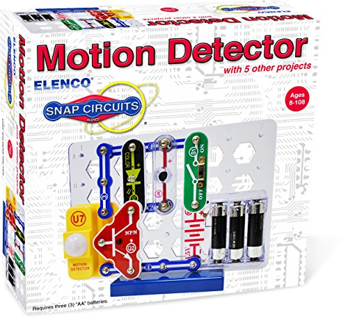 Snap Circuits Electronics Motion Detector Mini Kit | Build Motion Projects with Snap-Together Electronic Components | 12 Projects | Electronics Exploration Kit | Great STEM Product ()