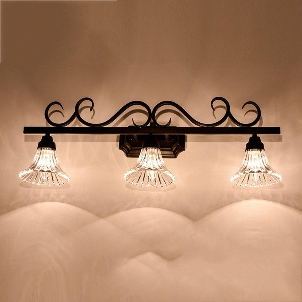 LANNA SHOP- Simple Mirror Front LED Warm White Light Dresser Make-up Lighting Lamp Bathroom Wall Mirror Headlights ( Size : 3 lights )