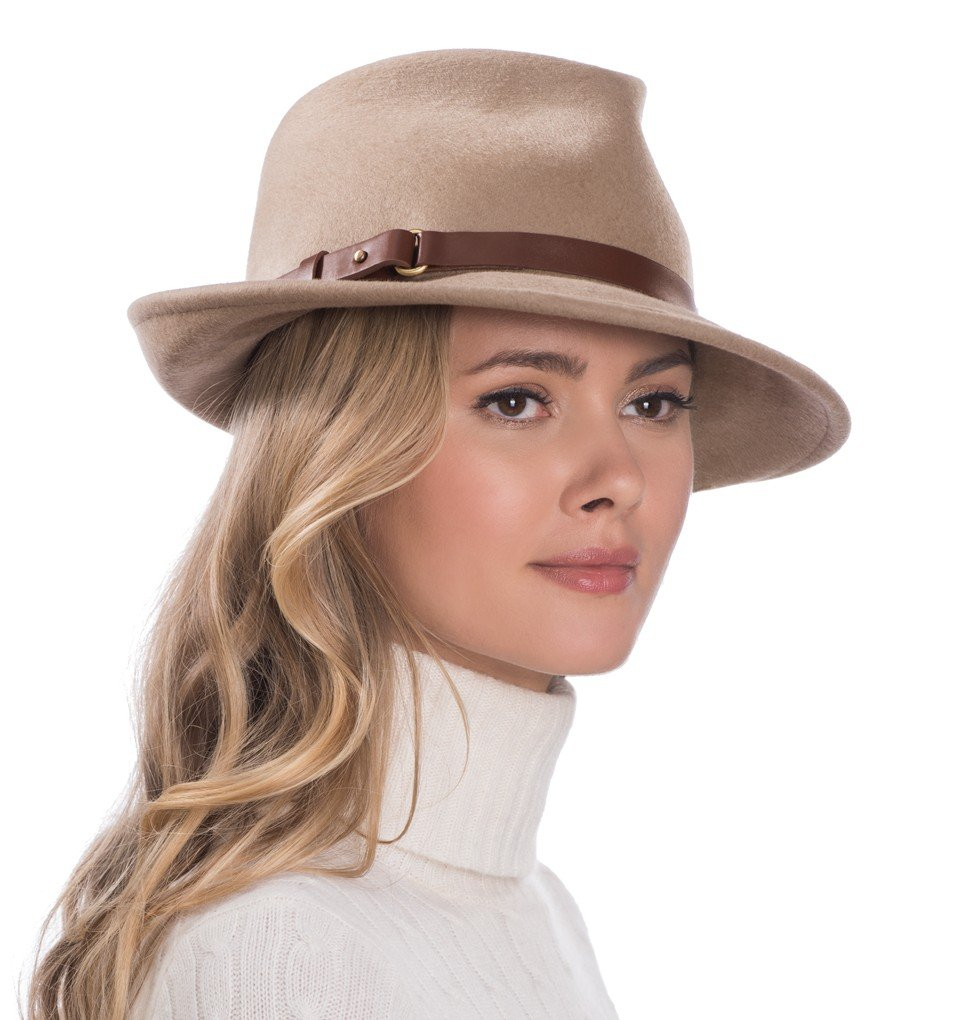 Eric Javits Luxury Fashion Designer Women's Headwear Hat - Wool Classic - Taupe