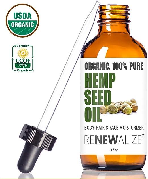 Renewalize Organic HEMP SEED OIL Facial Moisturizer