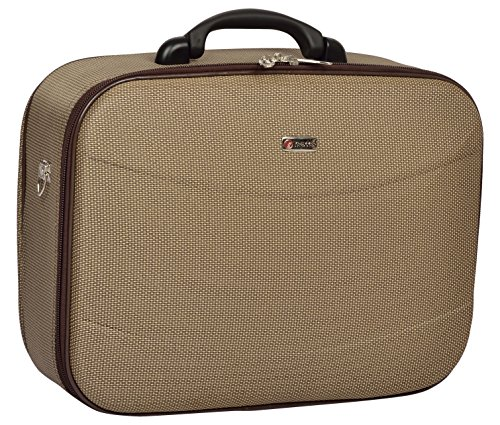 TREKKER Suitcase Trekker Polyester 37.5 cms Brown Double Shell Sided Suitcase  ICON o N20BR