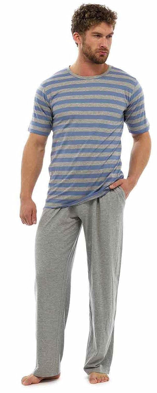 fb80b1559 Pijama para hombre con camiseta de rayas y pantalones largos lovely ...