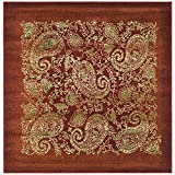 Safavieh Lyndhurst Collection LNH224B Traditional Paisley Red and Multi Square Area Rug (8′ Square) Review