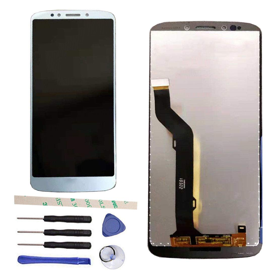 Draxlgon LCD Display Touch Screen Digitizer Assembly Replacement for Moto E5 Plus XT1924 XT1924-3 XT1924-7 / Moto E Plus 5th gen 6.0'' (Blue)