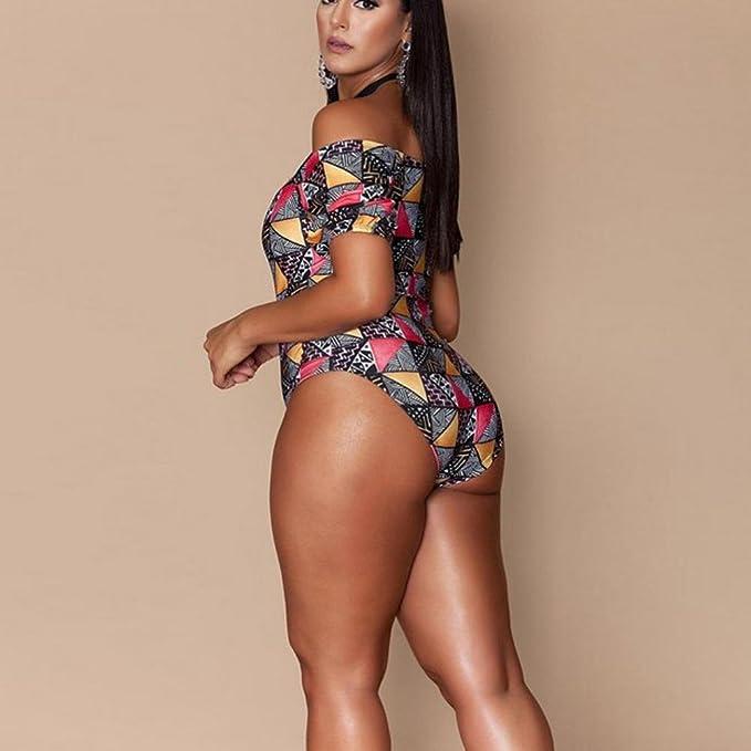 d8362f46d1afb Gocheaper Women Plus Size Bikini Push up Monokini One Piece Swimwear  Bandage Swimsuit at Amazon Women s Clothing store