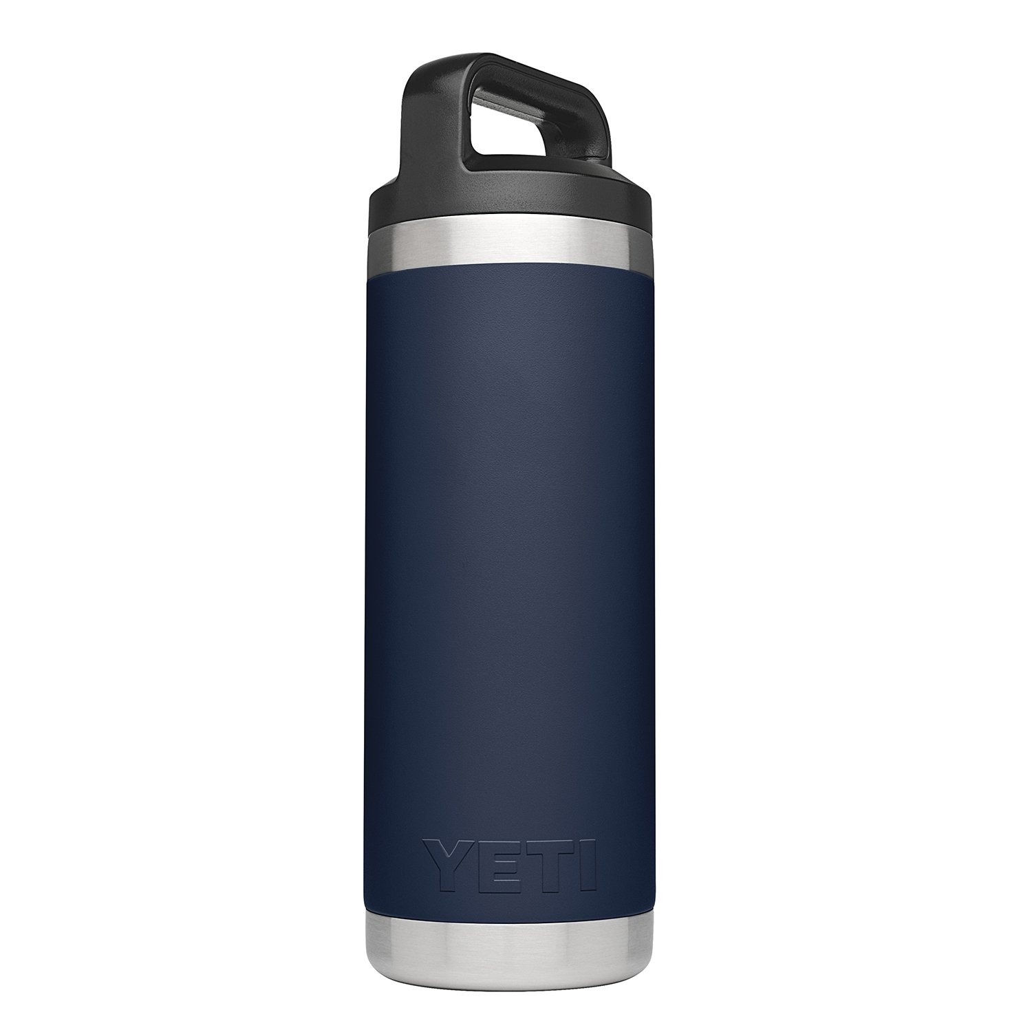 YETI Rambler 18 oz Stainless Steel Vacuum Insulated Bottle with Cap, Navy by YETI (Image #2)