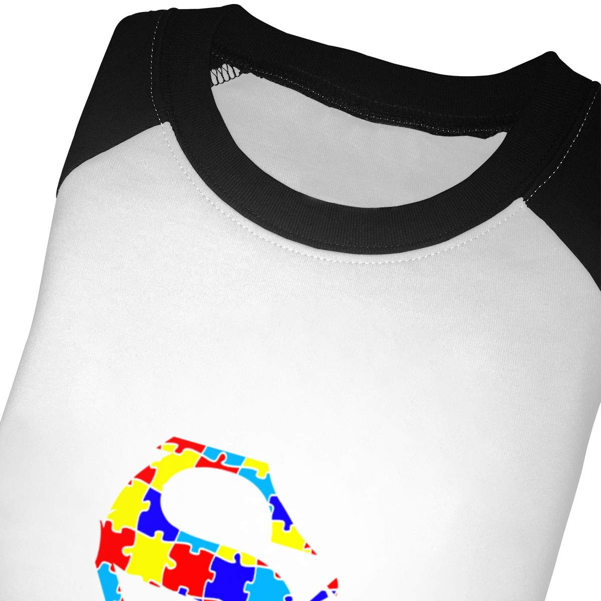 Manlee Autism Awareness Unisex 100/% Cotton Childrens 3//4 Sleeves T-Shirt Top Tees 2T~5//6T
