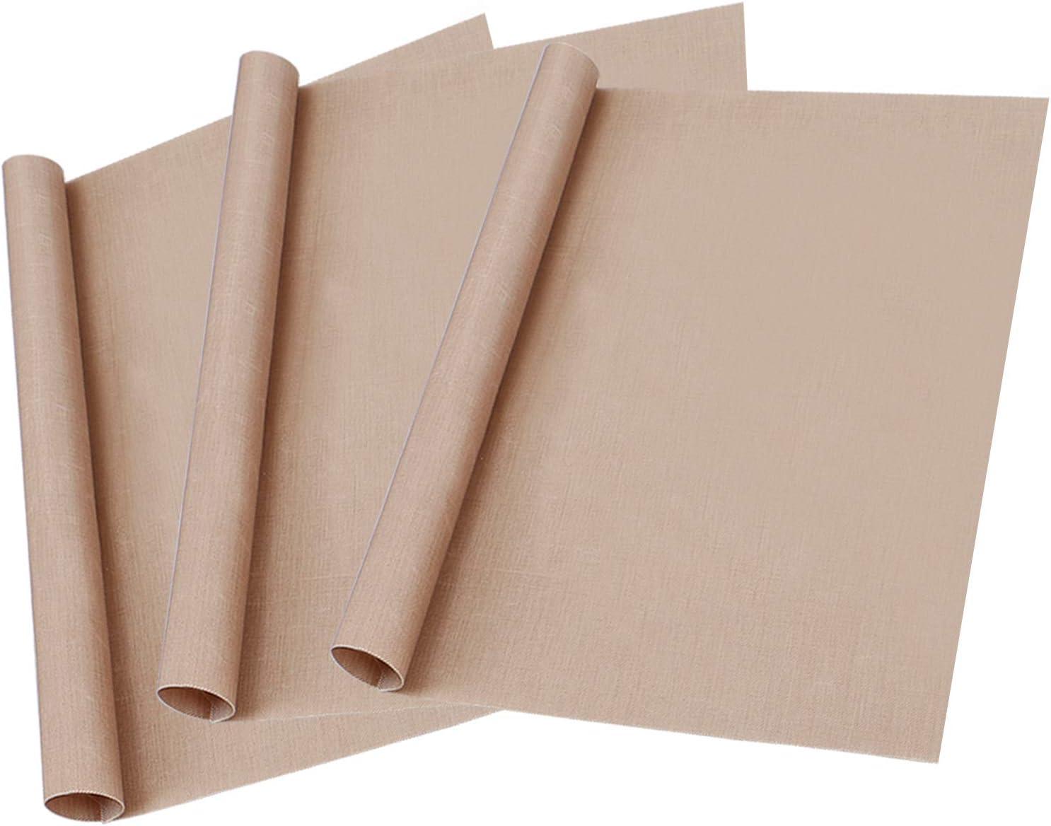 3 Pack PTFE Teflon Sheet for Heat Press Transfer Sheet Non Stick 12