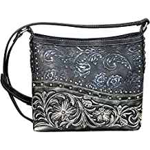Montana West Cross Body Messenger Bags Western Floral Tooled Embossed Purses MW631-8360