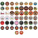50-count COFFEE, HOT COCOA, CAPPUCCINO & TEA Single Serve Cups for Keurig K Cup Brewers Variety Pack Sampler