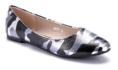 6155057ee5cd87 Schuhtempel24 Damen Schuhe Klassische Ballerinas flach 1 cm  Amazon ...